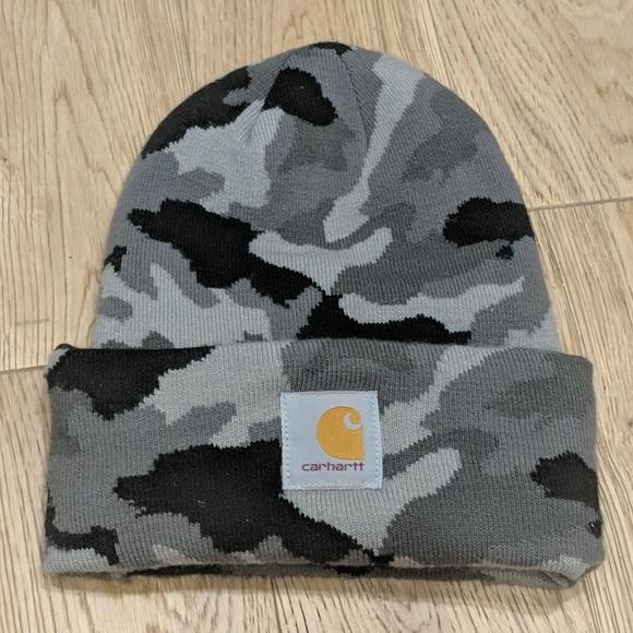 f7a969273c0 Carhartt Other - Carhartt Beanie Hat Grey Black Camo